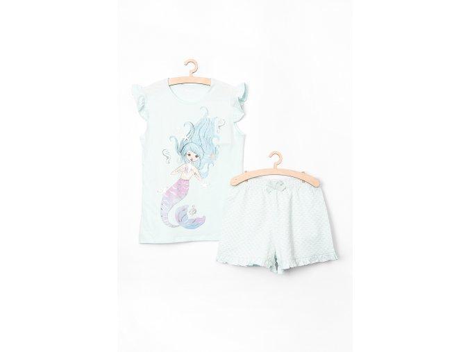Dívčí pyžamo krátký rukáv (Barva Zelená, Velikost 110/116)