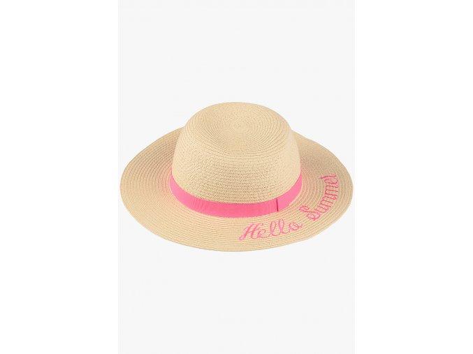Slaměný klobouček (Barva Béžová, Velikost 52/54)