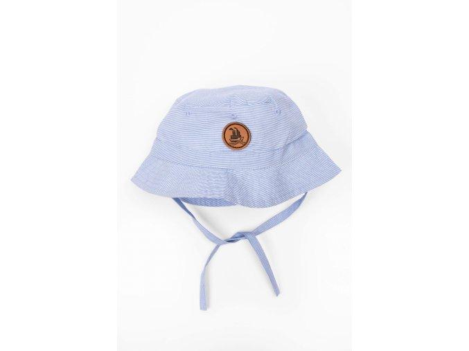 Kojenecký klobouček na zavazování (Barva Modrá, Velikost 44/46)