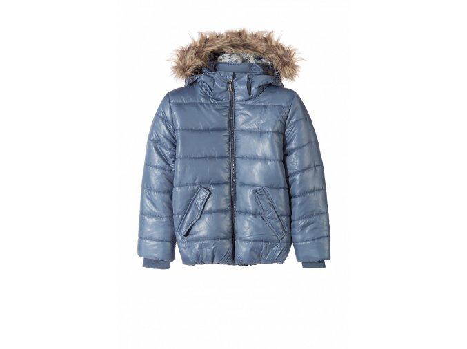 Dívčí zimní bunda s odepínací kapucí a kožešinkou