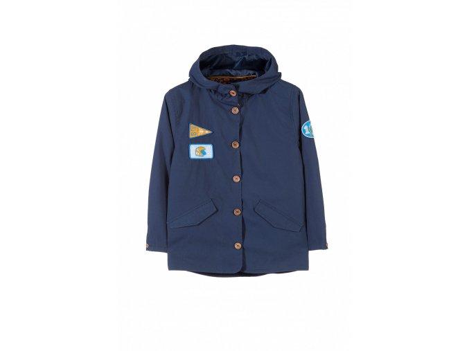 Chlapecká přechodová delší bunda s kapucí