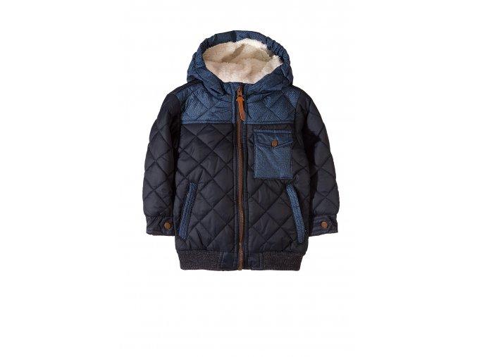 Chlapecká zimní bunda s kožešinkovou kapucí