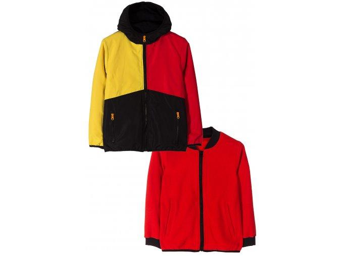 Chlapecká barevná přechodová bunda 2v1 (větrovka a mikina)