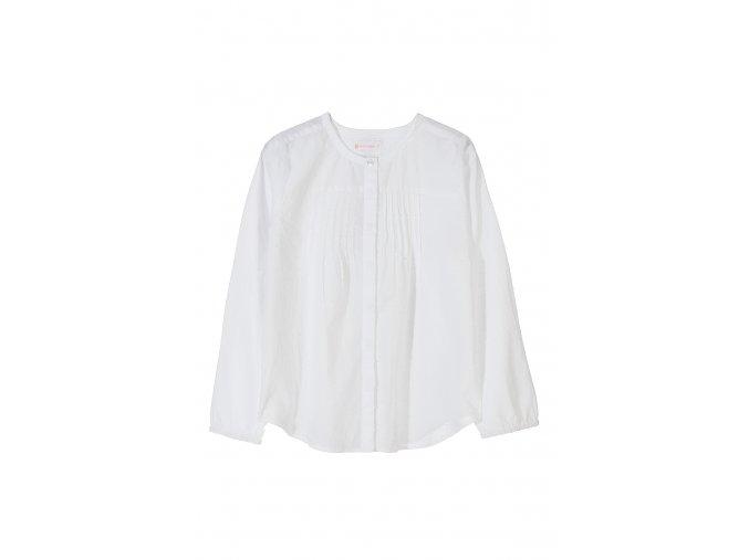 Dívčí společenská košilová halenka bílá