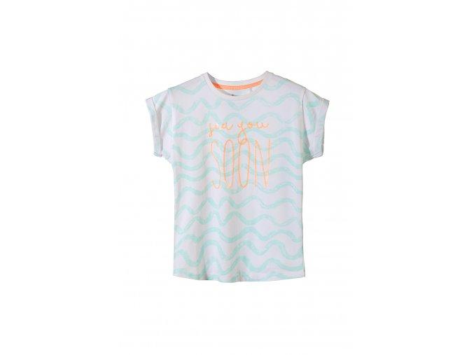 Dívčí tričko krátký rukáv s flitrovou aplikací
