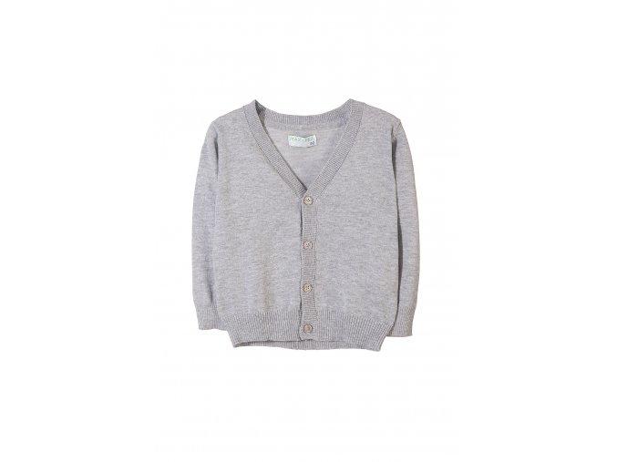 Chlapecký šedý svetr na rozepínání
