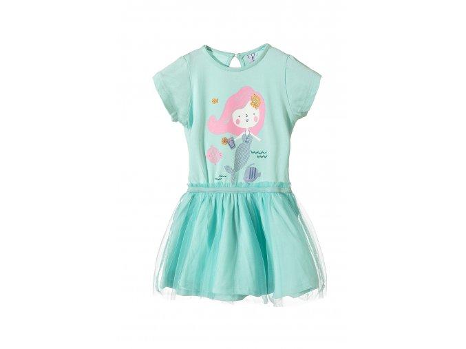 Kojenecké šaty krátký rukáv s potiskem a tylovou sukní