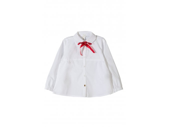 Dívčí nabíraná košile dlouhý rukáv