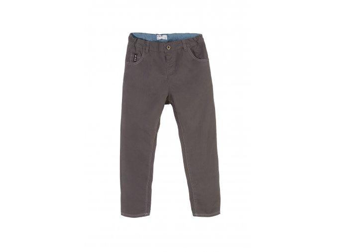 Chlapecké šedé bavlněné kalhoty