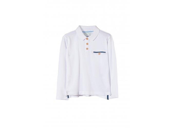 Chlapecké tričko dlouhý rukáv s límečkem