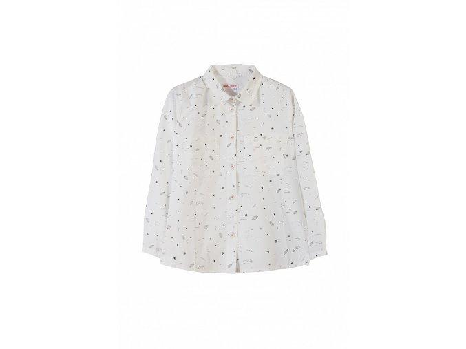 Dívčí košilová halenka s potiskem