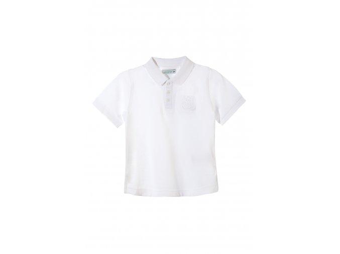 Chlapecká bílá polokošile krátký rukáv s aplikací