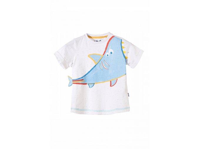 Chlapecké tričko krátký rukáv s potiskem a 3D aplikací