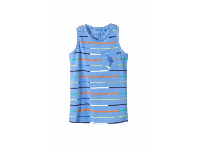 Chlapecké tričko bez rukávů s kapsičkou