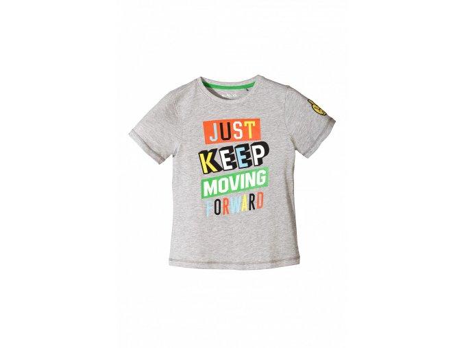 Chlapecké šedé tričko krátký rukáv s nápisem