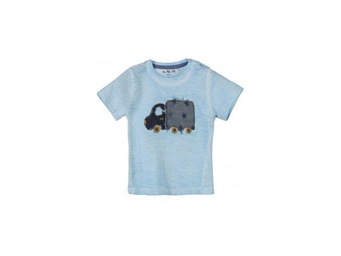 Kojenecké tričko krátký rukáv s aplikací auta