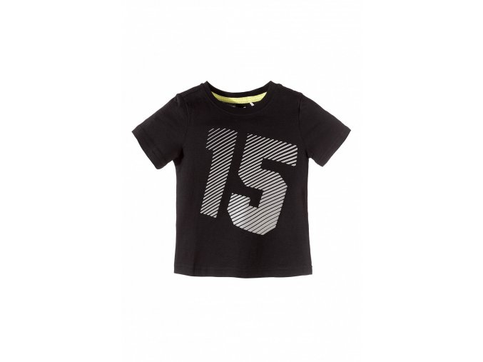 Chlapecké černé tričko krátký rukáv s potiskem