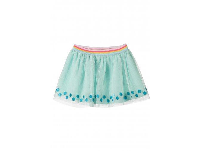 Kojenecká zelená sukně s tylem