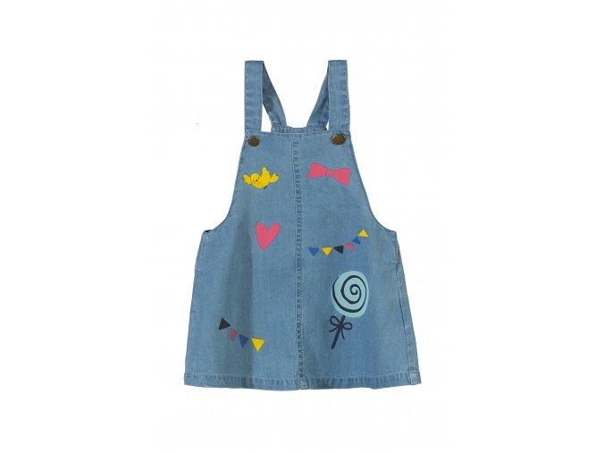 Kojenecká džínová sukně s laclem