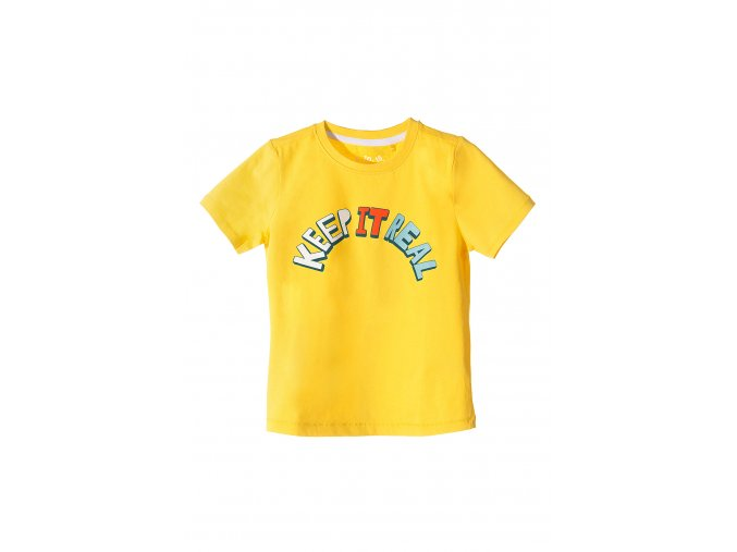 Chlapecké žluté tričko krátký rukáv s nápisem