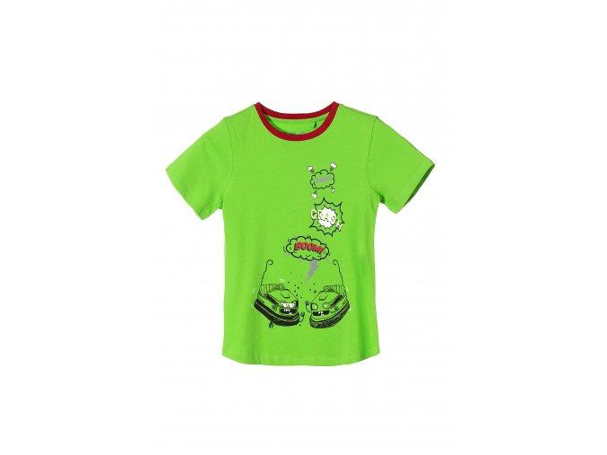 Chlapecké zelené tričko krátký rukáv Boom