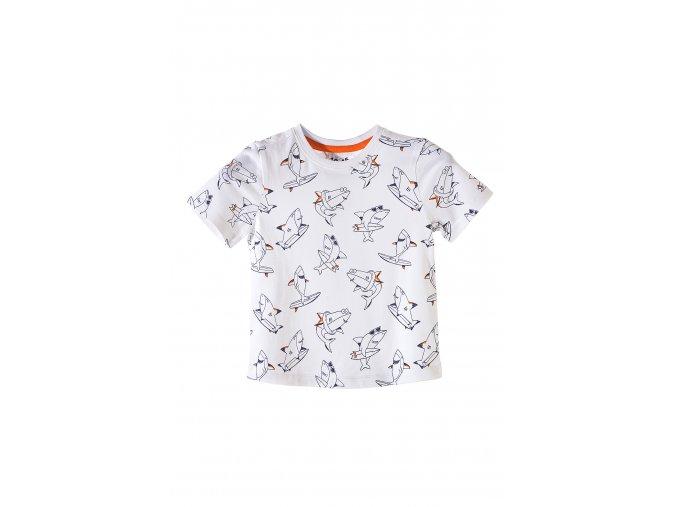 Chlapecké bílé tričko krátký rukáv s celoplošným potiskem