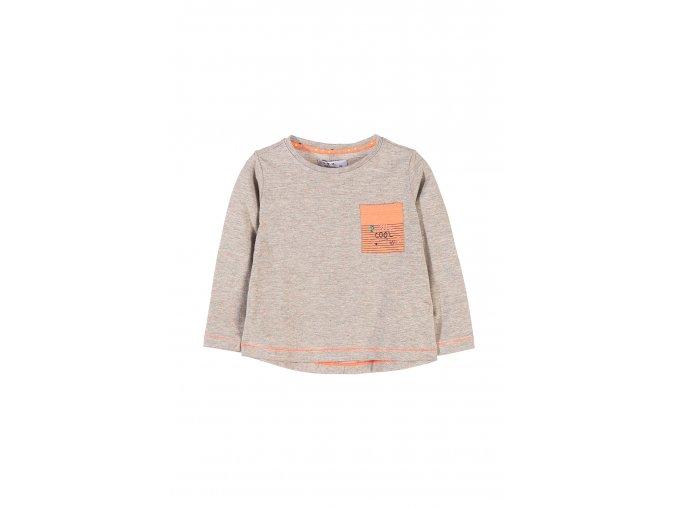 Dívčí tričko dlouhý rukáv s kapsičkou