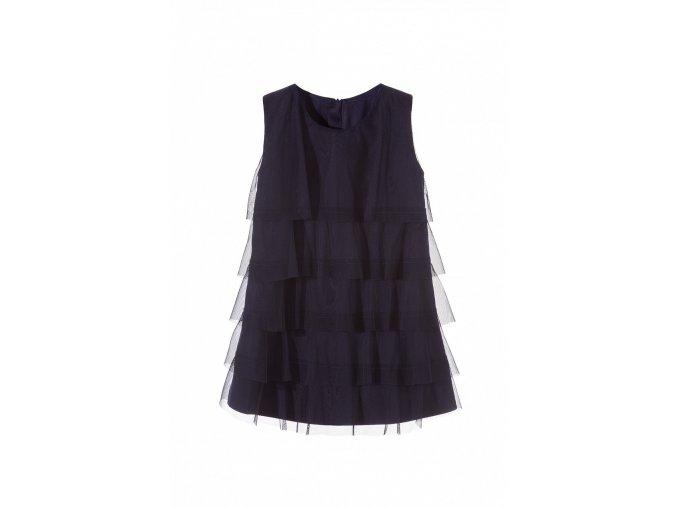 Dívčí šaty s tylovými kanýry