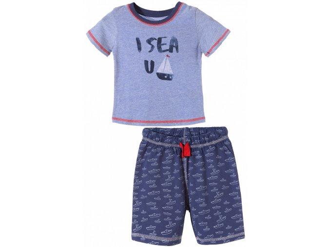 Chlapecké pyžamo krátký rukáv Lodičky