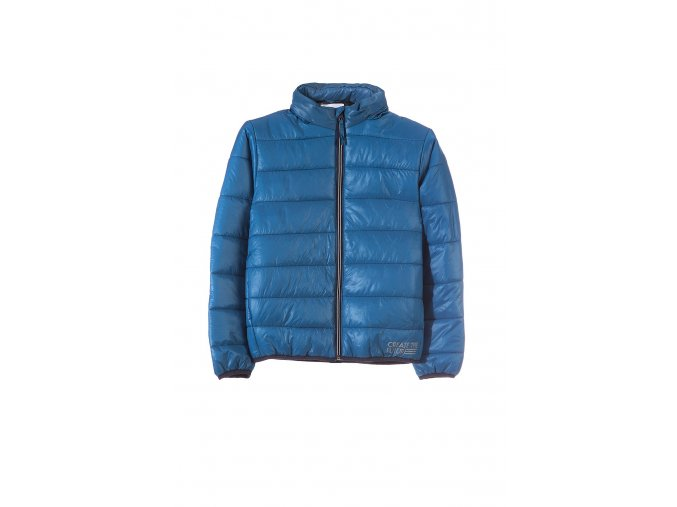 Chlapecká prošívaná bunda s tenkou kapucí