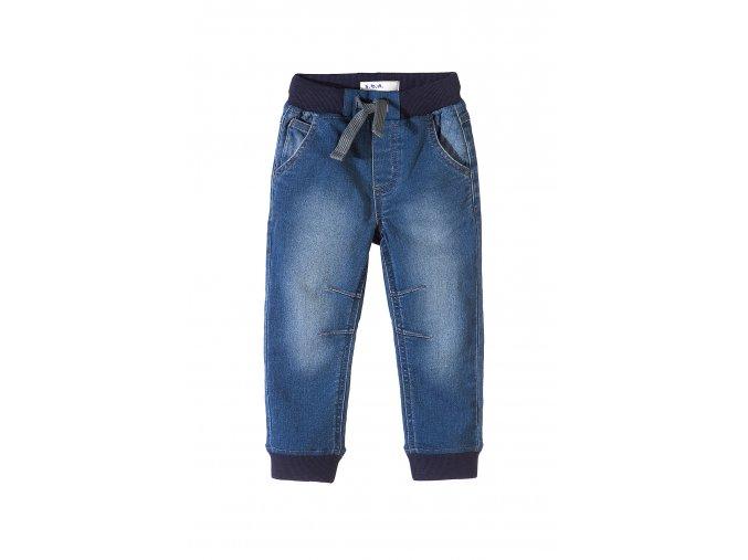 Chlapecké džíny s gumou v pase i dole na nohavicích