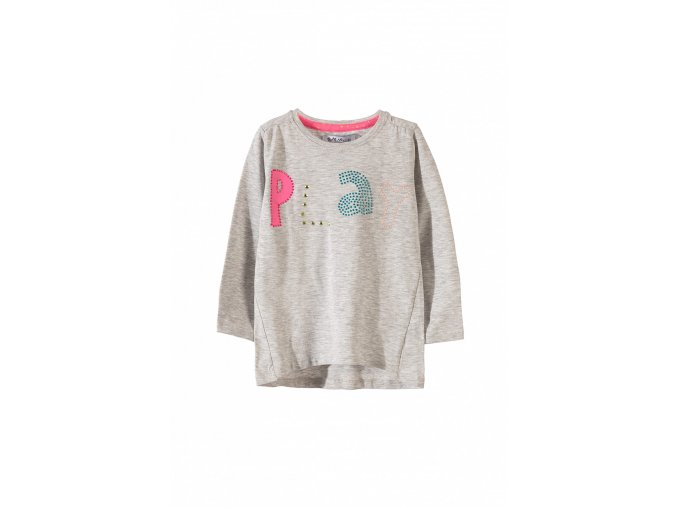 Dívčí tričko dlouhý rukáv s aplikací