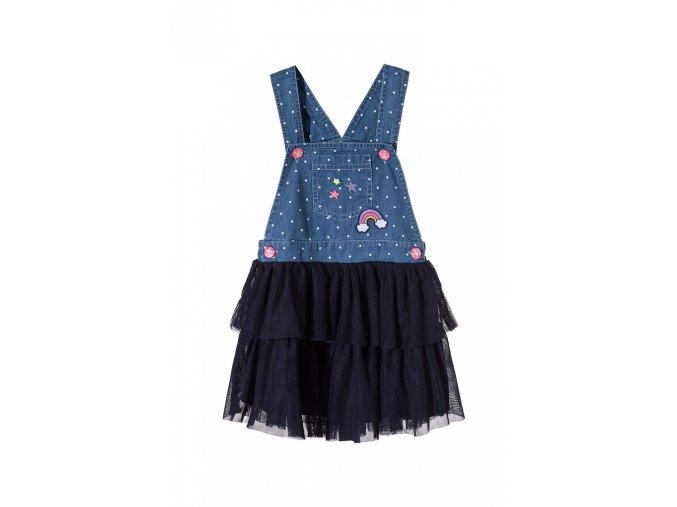 Dívčí tylová sukně s džínovým laclem