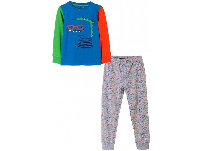 Chlapecké barevné pyžamo dlouhý rukáv