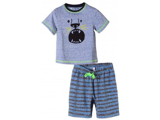 Chlapecké pyžamo krátký rukáv Tygr
