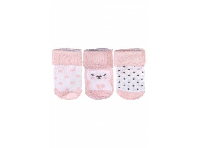 Kojenecké ponožky puntíky - 3 páry v balení