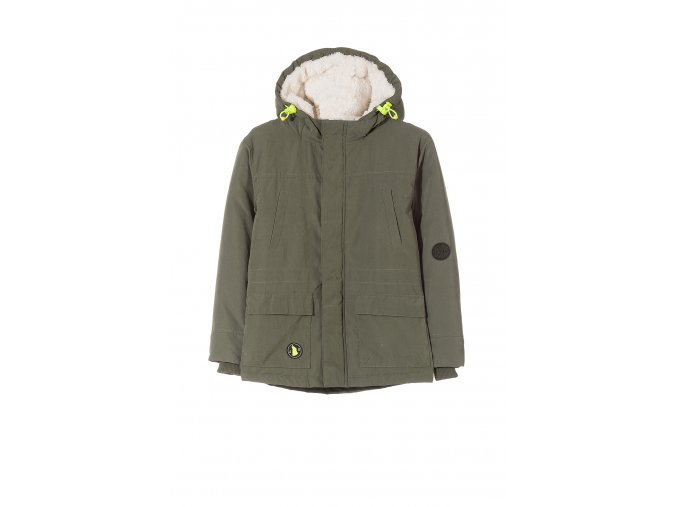 Chlapecká zimní bunda s kapucí