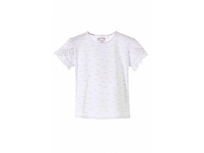 Dívčí tričko krátký rukáv s kanýrky