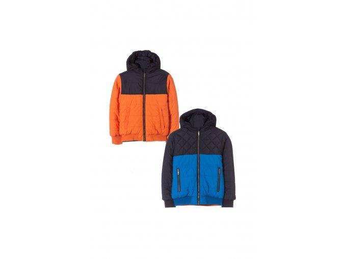 Chlapecká zimní oboustranná bunda s kapucí