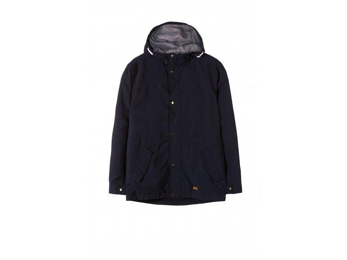 Chlapecká delší přechodová bunda s kapucí