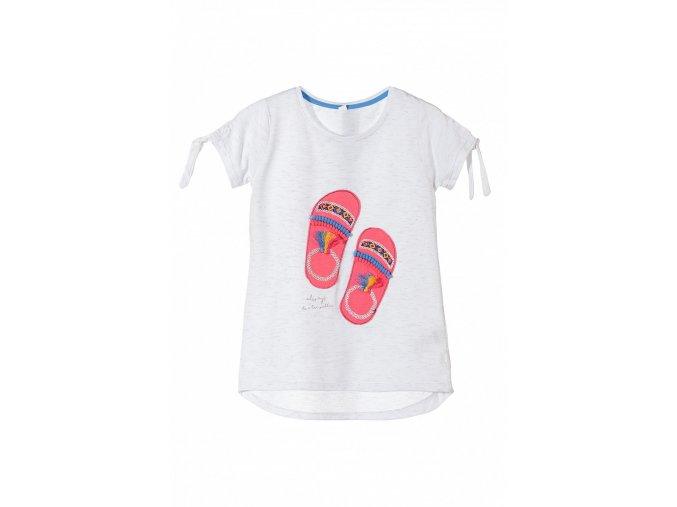 Dívčí tričko krátký rukáv 3D pantofle