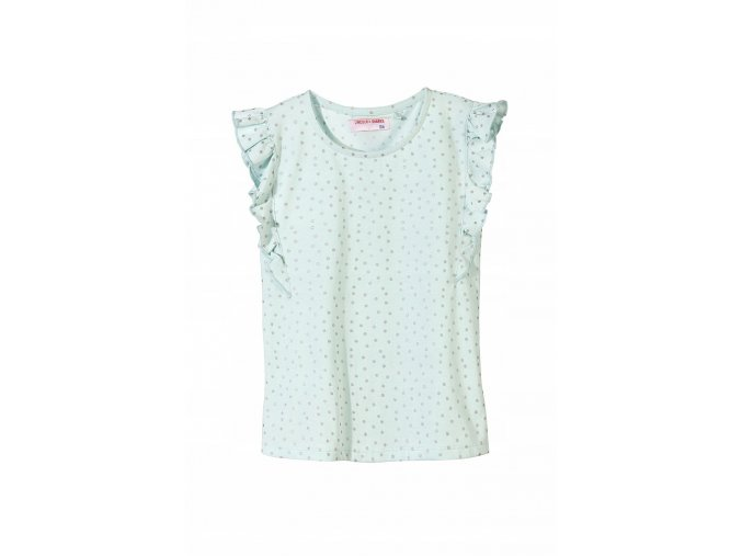 Dívčí puntíkované tričko s volánky