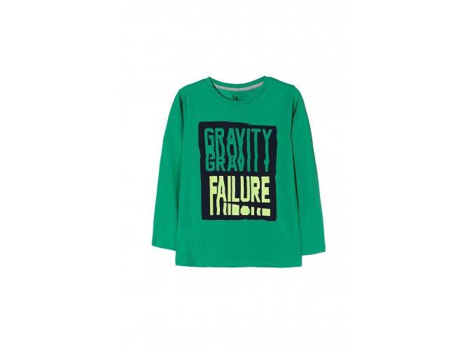 Chlapecké tričko dlouhý rukáv s potiskem zelené