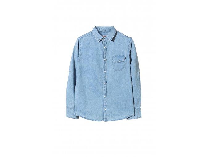 Chlapecká džínová košile dlouhý rukáv