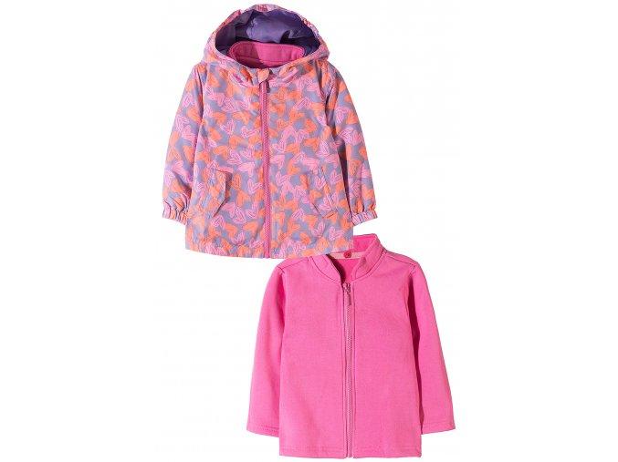 Dívčí přechodová bunda 2v1 (větrovka a mikina)