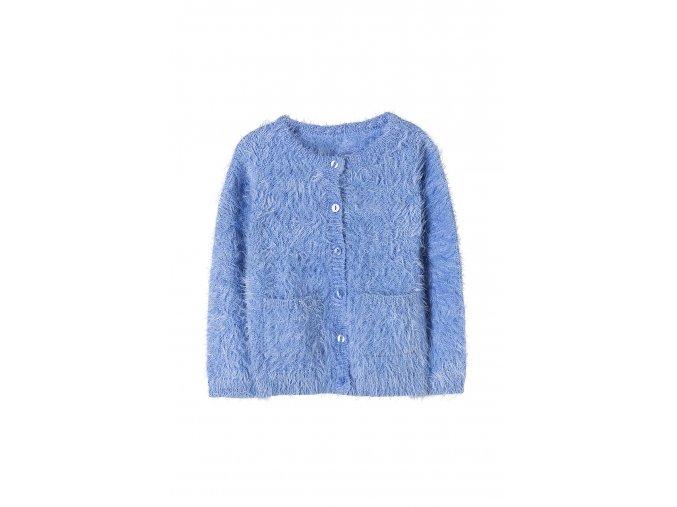 Dívčí svetr na knoflíky s kapsami