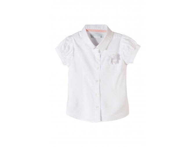 Dívčí košile krátký rukáv s 3D aplikací