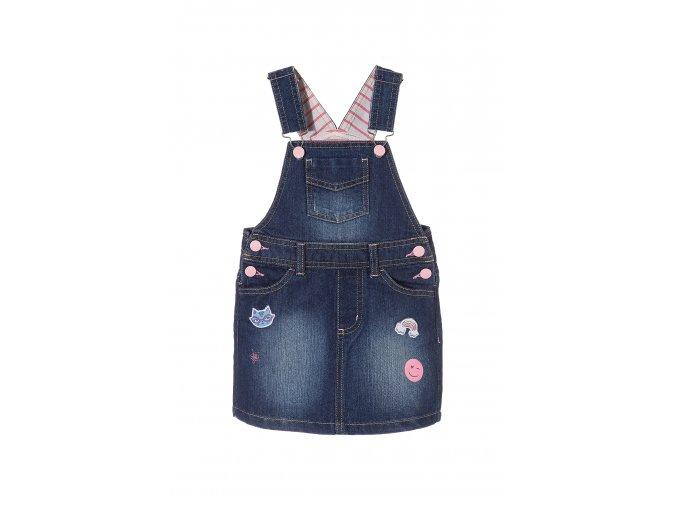 Dívčí džínová sukně s laclem