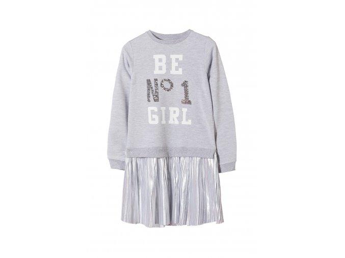 Dívčí originální šaty - efekt 2v1