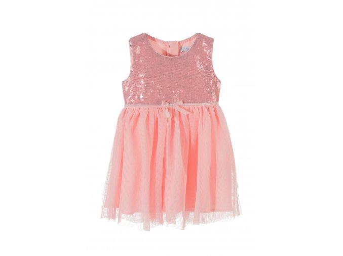 Dívčí šaty s flitrovým sedýlkem
